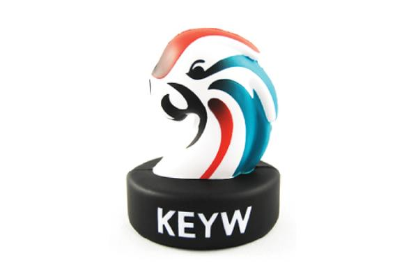 KeyW Corporation Parrot Mascot Stress Reliever