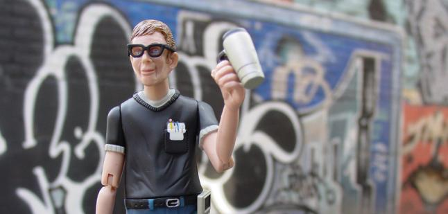 GeekMan in Graffiti Alley