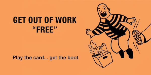 Get Out Of Jail Free Cards For The Office Happy Worker Toys