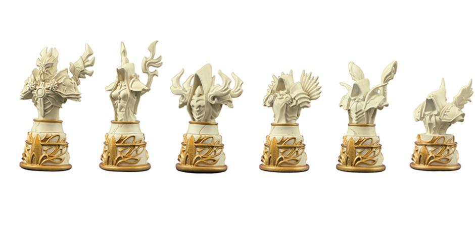 Custom Polystone Chess Set Diablo Chess For Blizzard