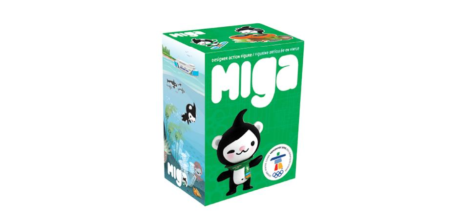 Vancouver 2010 Olympic Mascot Miga Toy Package