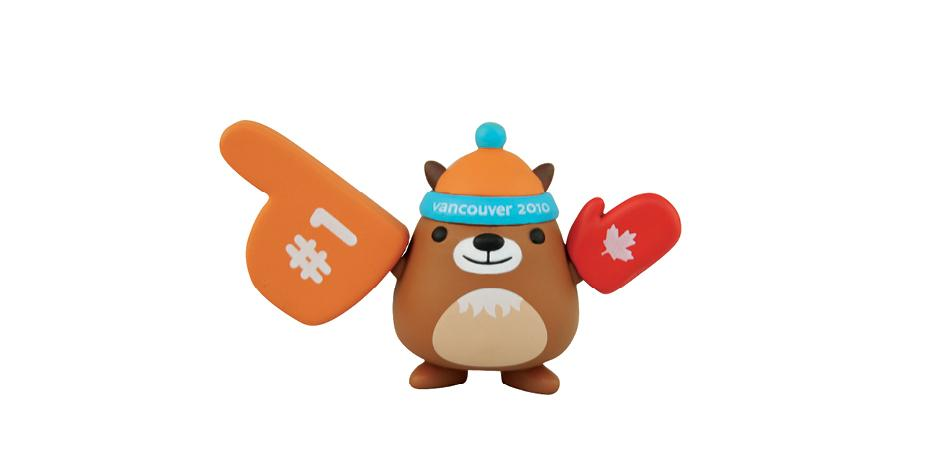 Vancouver 2010 Olympic Mascot Mukmuk Vinyl Toy