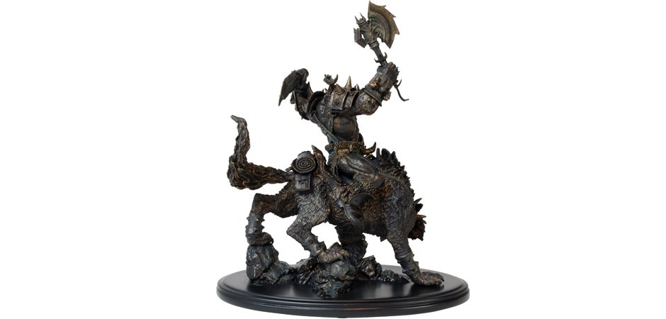World of Warcraft Orc Wolfrider Statue