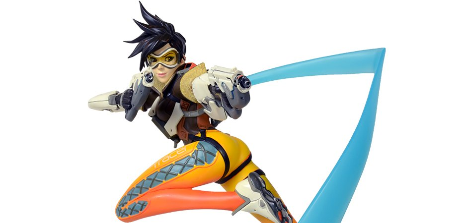 Overwatch Tracer Polystone Statue