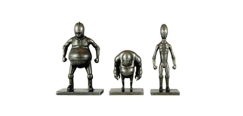 FITC Custom Metal Luchador Figurines