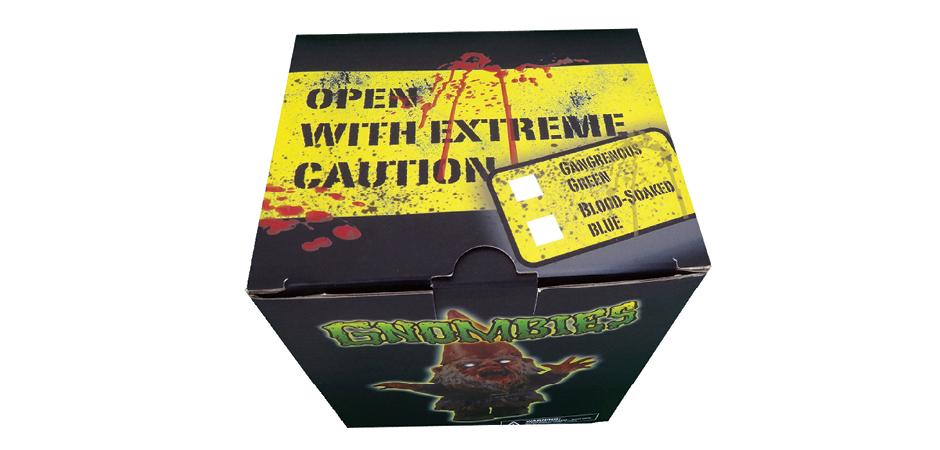The Dark Garden Gnombie Polystone Figure Packaging