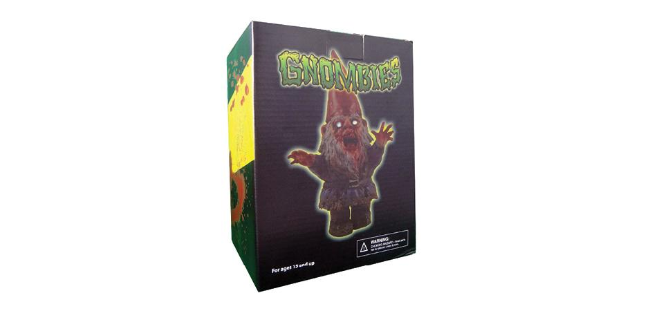 Gnombie Zombie Gnome Polystone Figurine Packaging