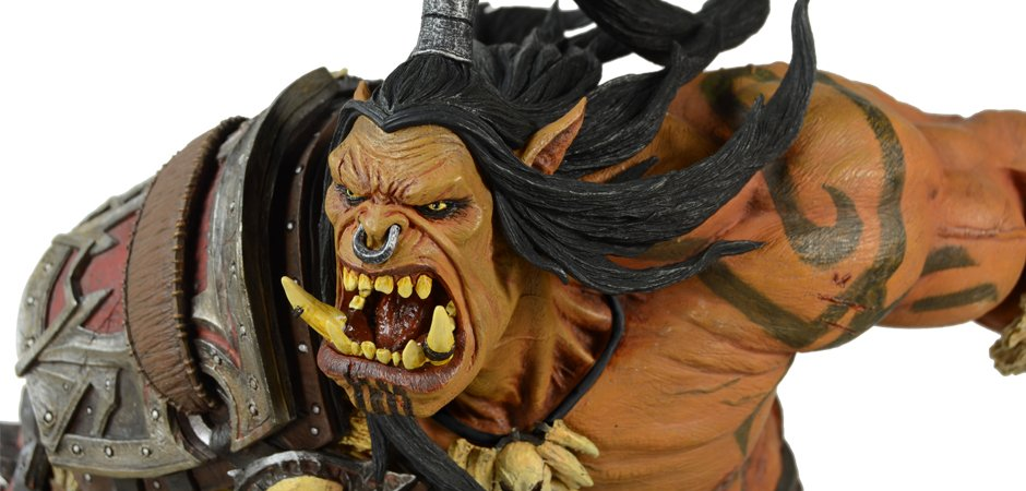 Blizzard Grommash Hellscream World of Warcraft Statue