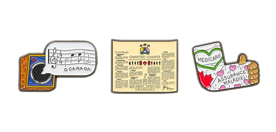 For the Love of Canada Collector Pins