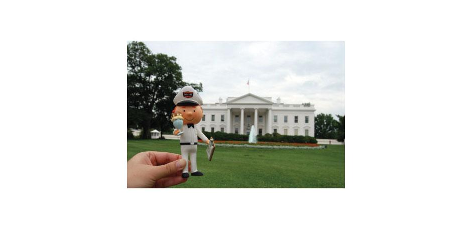 Tucows OpenSRS Service Guy Toy at White House