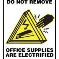 Office Supplies are Electrified office sign