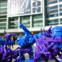 Custom Marine and Zergling Figurines at BlizzCon