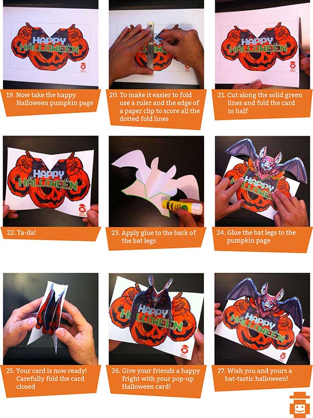 pop out card instructions