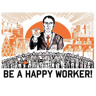 Work Propaganda Poster - male version