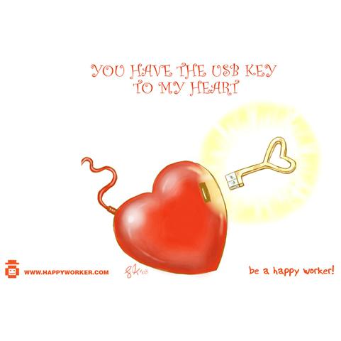 USB Key and a Heart
