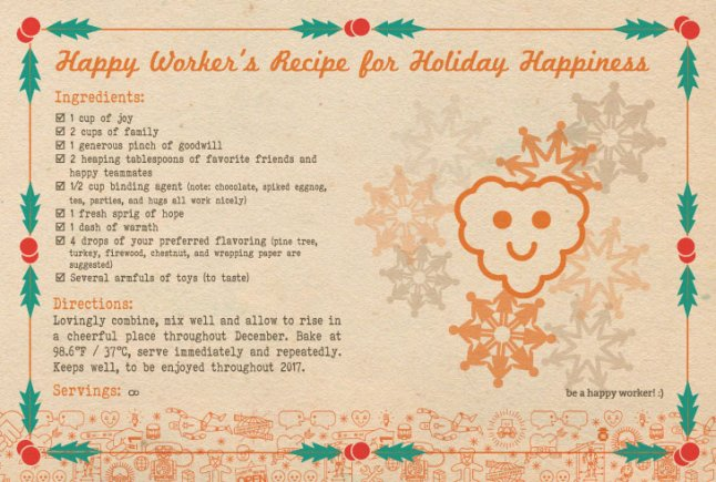 Recipe for holiday happiness
