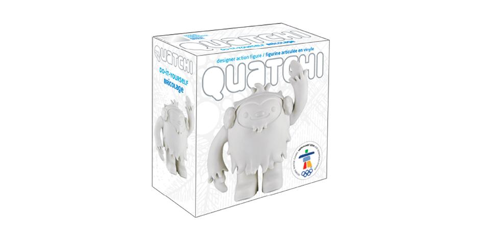 Vancouver 2010 Olympic Mascot DIY Quatchi Toy Package