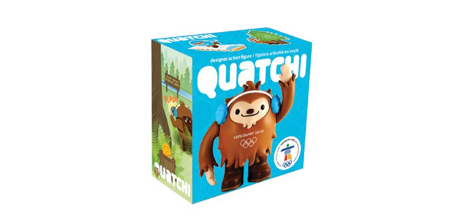 Vancouver 2010 Olympic Mascot Quatchi Toy Package
