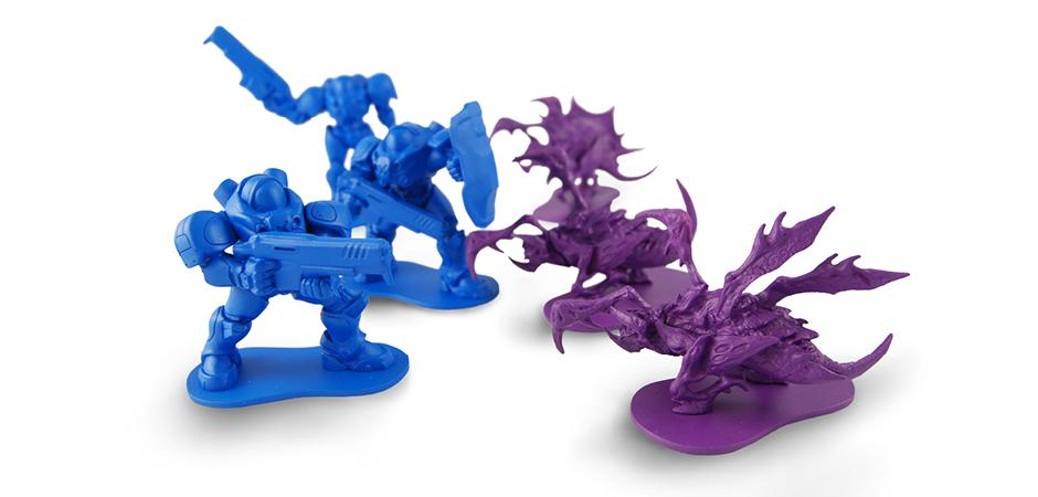 Marine and Zergling toys