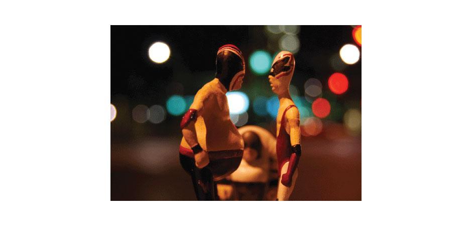 FITC Custom Luchador Metal Figures Painted