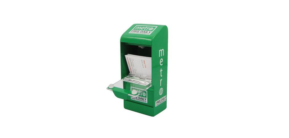 Metro Newspaper Business Card Holder