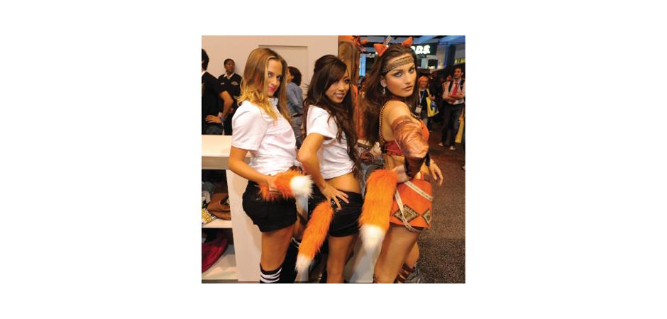Prime World Fox Tail on Booth Babes