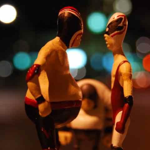 FITC Break-IT Luchadores Figures in the Street
