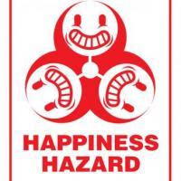 Happiness Hazard office sign
