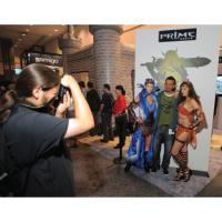 Gamer at E3 Prime World Booth