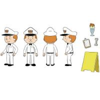 Tucows OpenSRS Service Guy Toy Concept Illustration